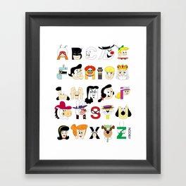 Child of the 60s Alphabet Framed Art Print