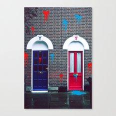 Red vs Blue 01 Canvas Print