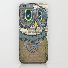 Owl wearing glasses iPhone 6s Slim Case