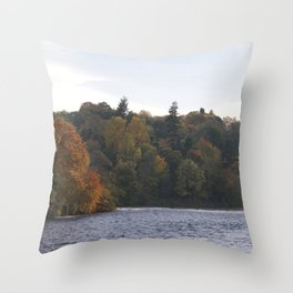Autumn from Ness Island Inverness Throw Pillow