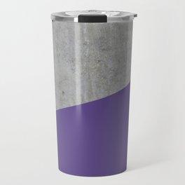 Concrete with Ultra Violet Color Travel Mug