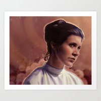 leia Art Prints featuring Leia by Jackie Sullivan