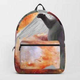 Angel cat Backpack