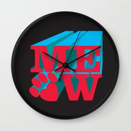 MEOW paw Wall Clock