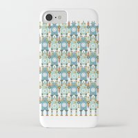 robots iPhone & iPod Cases featuring robots by Mr. Morris can Meow!