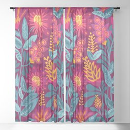 Fiesta Garden Sheer Curtain