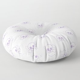 Lavender Skull and Crossbones Print and Pattern Floor Pillow