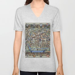 Cambridge University campus map Unisex V-Neck