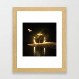 Circle Eagle Framed Art Print