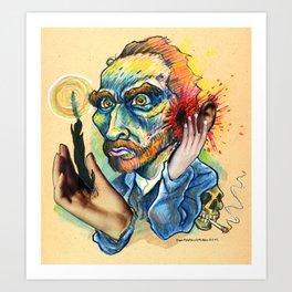 Van Gogh Caricature Art Print