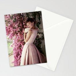 Audrey Hepburn Flowers Stationery Cards