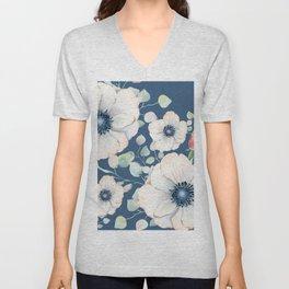 Summer Flowers Blue #society6 #buyart Unisex V-Neck
