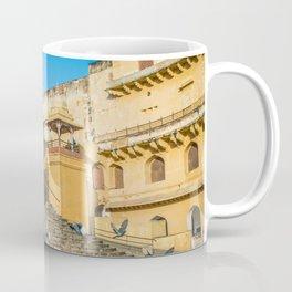 Pigeons at Amer Fort, Jaipur Coffee Mug