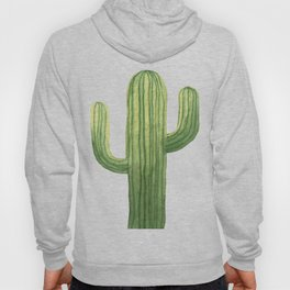 Simple Green Cactus on White Hoody
