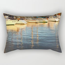 Sunset at the marina Rectangular Pillow