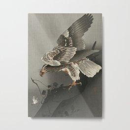 Ohara Koson, Eagle Watching A Prey - Vintage Japanese Woodblock Print  Metal Print