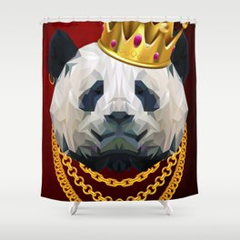 The King of Pandas Shower Curtain