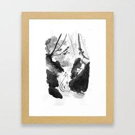 In the Bamboo Stream Framed Art Print