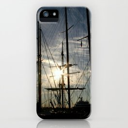 sailboat on the sunrise iPhone Case