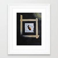 cigarette Framed Art Prints featuring Cigarette by Pamela Leszczynski