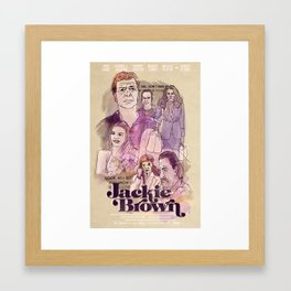 Jackie Brown Film Poster Fan Art Framed Art Print