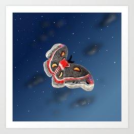 Fluttering Cecropia Art Print