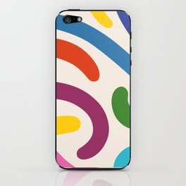 Colorful mess iPhone Skin