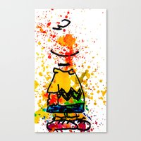 charlie brown Canvas Prints featuring Charlie Brown by benjamin james