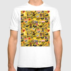 LOLzig Pattern MEDIUM White Mens Fitted Tee