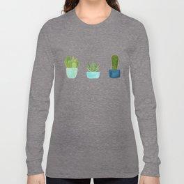 Three Cacti Long Sleeve T-shirt