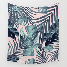 Tropical Jungle Leaves Pattern #8 #tropical #decor #art #society6 Wall Tapestry