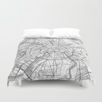 Moscow Map Line Duvet Cover