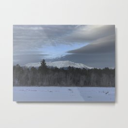 Snowy Katahdin Metal Print