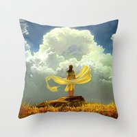 wind Throw Pillows featuring Wind by Artem Rhads Cheboha
