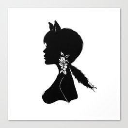 Foxy Silhouette Canvas Print