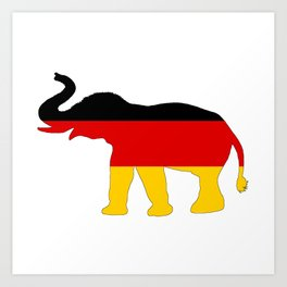 German Flag - Elephant Art Print