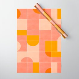 Retro Tiles 03 #society6 #pattern Wrapping Paper