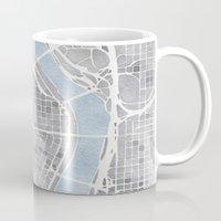 portland Mugs featuring Portland Oregon by Anne E. McGraw