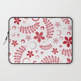 Rose pink floral pattern - summer positive vibes! Laptop Sleeve