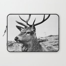 The Stag on the hill - b/w Laptop Sleeve
