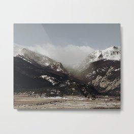 Snow Clouds Metal Print