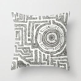 Trilolith Maze Throw Pillow
