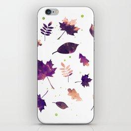 SUNSET LEAF PATTERN iPhone Skin