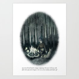 Behind You 35 Art Print
