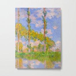Claude Monet Impressionist Landscape Oil Painting Poplars in the Sun Metal Print