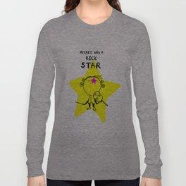 MOZART WAS A ROCK STAR (BLUE) Long Sleeve T-shirt