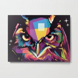 Polygonal Owl Metal Print
