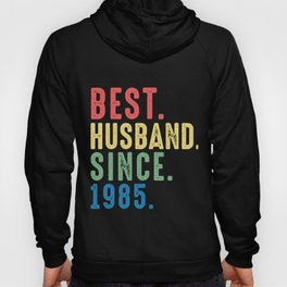 Best. Husband. Since. 1985 34th Wedding Anniversary for Him Hoody