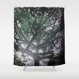 Green and Purple Dreams Shower Curtain