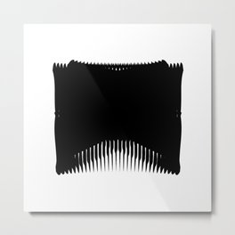 Ass Backwards Metal Print